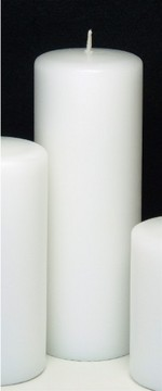 Unscented pillar candles available in almost every color.  Prices vary depending on size; $6.50 to $18.00